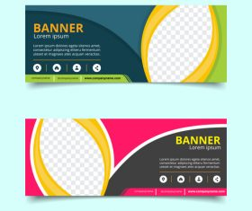 Abstract pattern banner template design vector