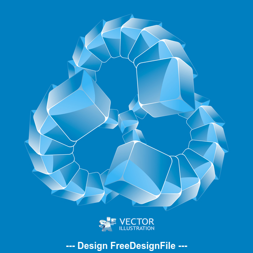 Abstract polygon combination background pattern vector