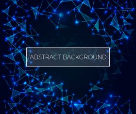 Abstract polygonal space low poly dark background Connection structure vector