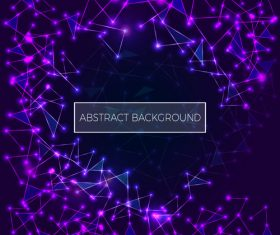 Abstract purple polygonal space low poly dark background vector