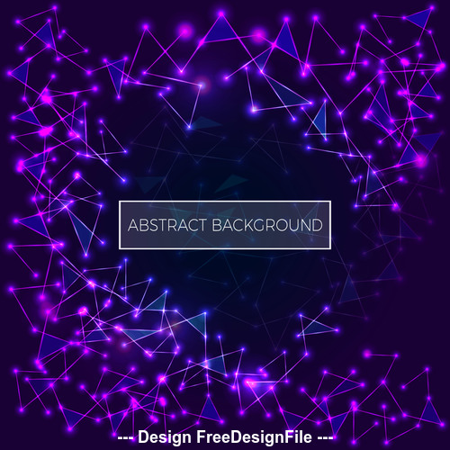 Abstract Purple Polygonal Space Low Poly Dark Background