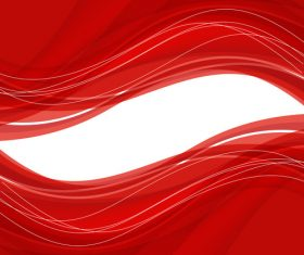Abstract red background with wave Vector illustration