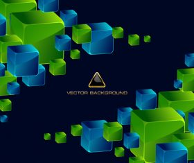 Abstract square vector illustration