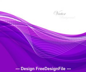 Abstract violet background with wave Vector illustration