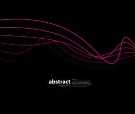 Abstract wave on black magenta background vector
