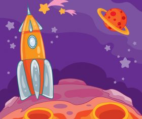 Air rocket cartoon background vector
