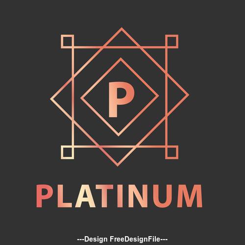 Alphabet logos p in vector