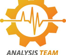 Analysis team logo vector