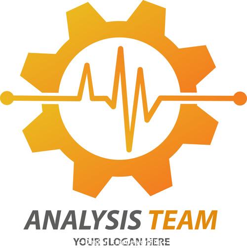 Analysis team logo vector