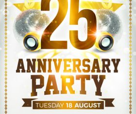 Anniversary Party PSD Flyer Templates