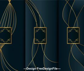 Art deco template vector