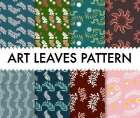 Art leaves pattern seamless background vector