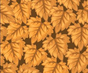 Autumn yellow leaves background seamless pattern vector