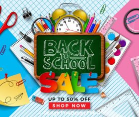 Back to school Sales background vector