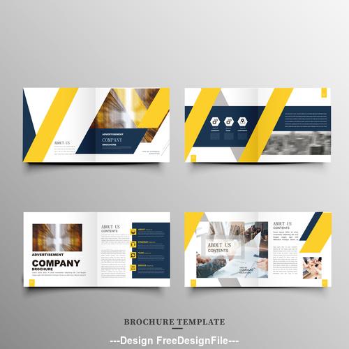 Barcode design brochure vector