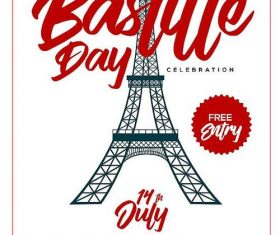 Bastille Day Flyer psd template