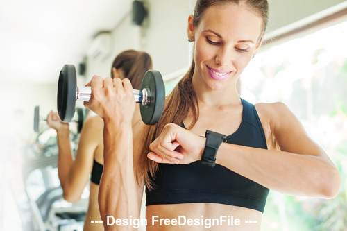 Beatiful girl with fitness stock photo