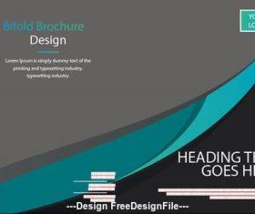 Bifold brochure and QR code in logo vector