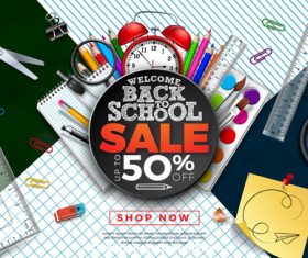 Big promotion student supplies vector