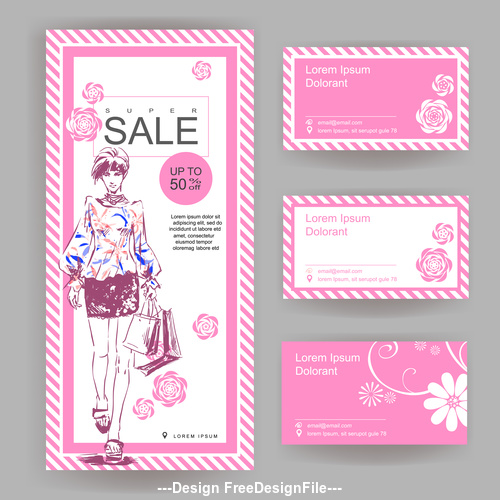 Big sale card for fashion store vector