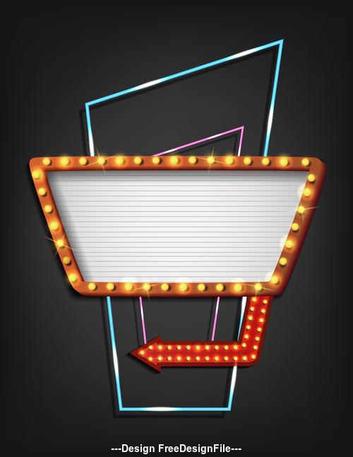 Black background and light frame sign vector