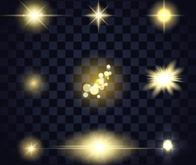 Black checkered background glow light effect vector