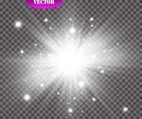 Black checkered background white glow light effect vector