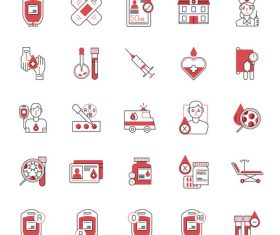 Blood Donation FlatOutline vector