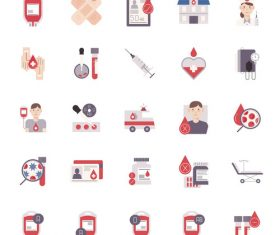 Blood donation flat vector