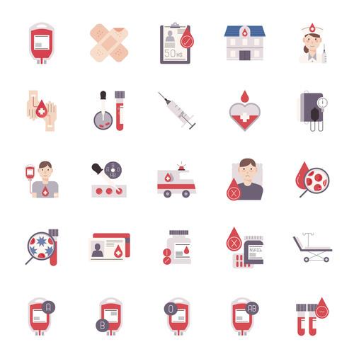 Blood donation flat vector