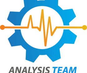 Blue Analysis team logo vector