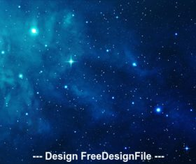 Blue Space Illustration vector
