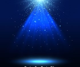 Blue Spotlights light effects vector