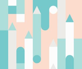 Blue and white castles abstract geometric vector backgrounds