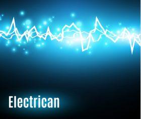 Blue background lightning vector