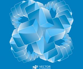 Blue square background combination pattern vector