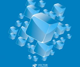 Blue square pattern vector