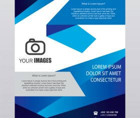 Blue stripe brochure cover template vector