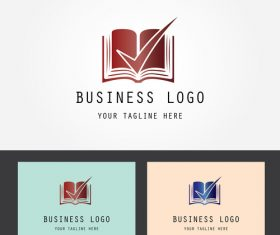 Book logo design vector