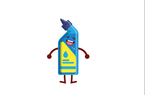 Bottle emoticon cartoon vector