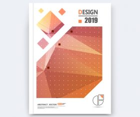 Brochure design 2019 vector