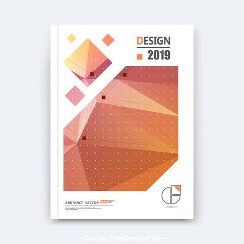 Brochure design 2019 vector