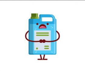 Bucket expression cartoon vector