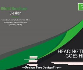 Business Bifold Brochure Design Vector