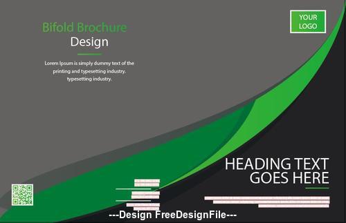 Business Bifold Brochure Design Vector