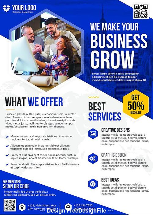 Business Flyer PSD Bundle PSD Template