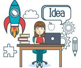 Business concept cartoon illustration vector