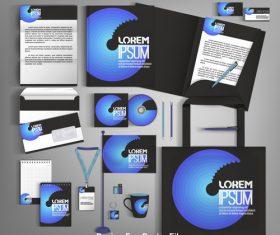 Business set stationery card brochure design vector
