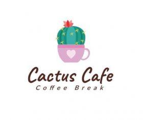 Cactus cafe Logo vector