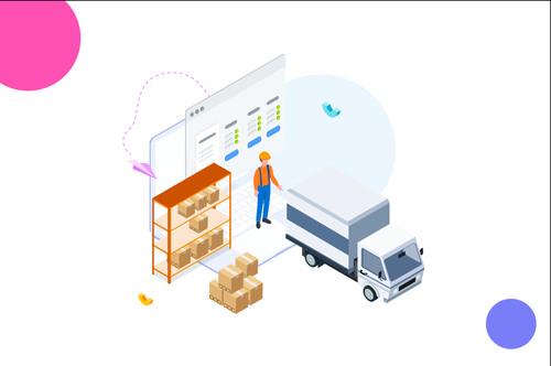 Cargo management cartoon vector